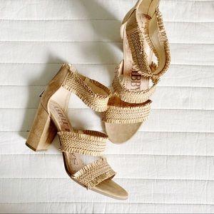 Sam & Libby Heeled Sandals Fringe size 8.5